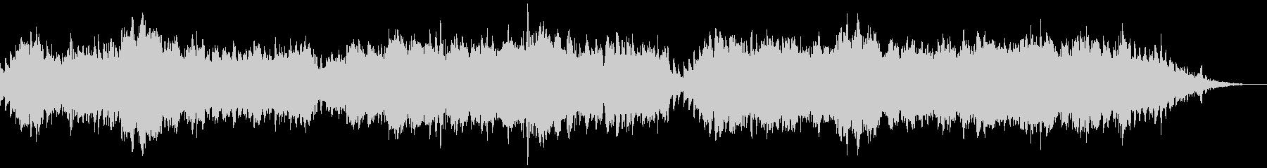 穏やかなチェロのリラクゼーション風BGMの未再生の波形