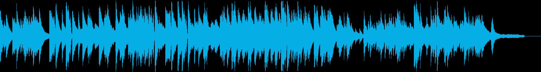 叙情的なピアノのメロディの再生済みの波形