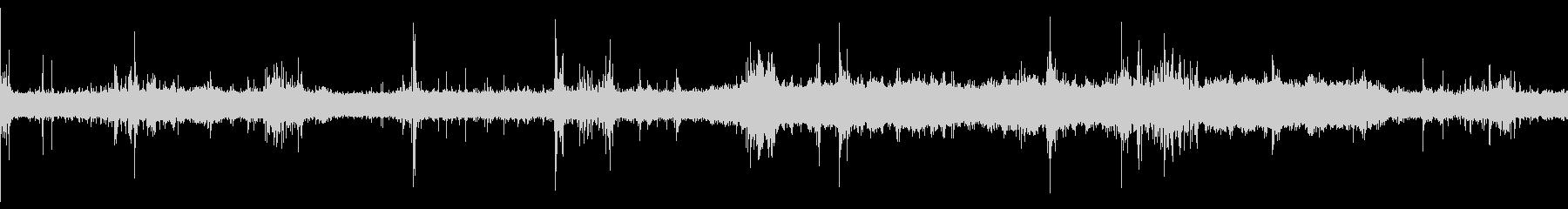 電車車内音(バイノーラル素材)の未再生の波形