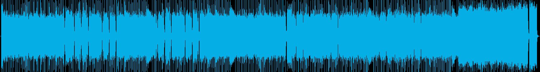 ギターリフがかっこいい曲の再生済みの波形