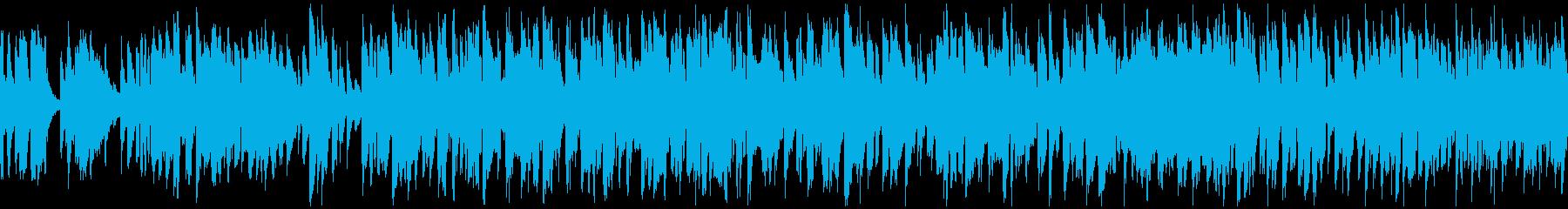 コメディ系のリコーダー曲、脱力※ループ版の再生済みの波形