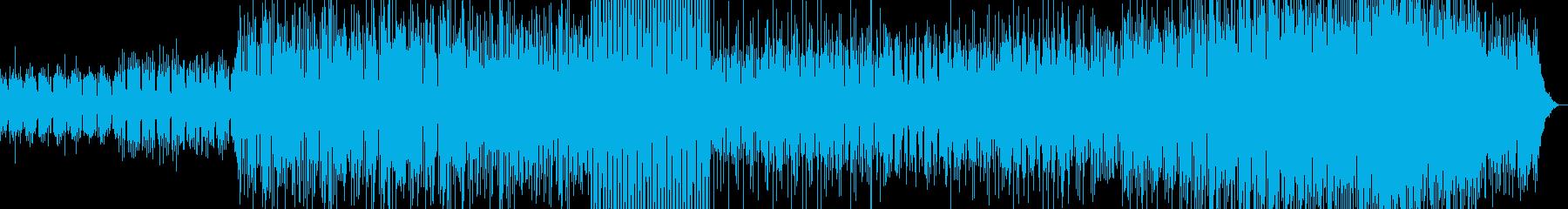 軽快なテクノミュージックの再生済みの波形