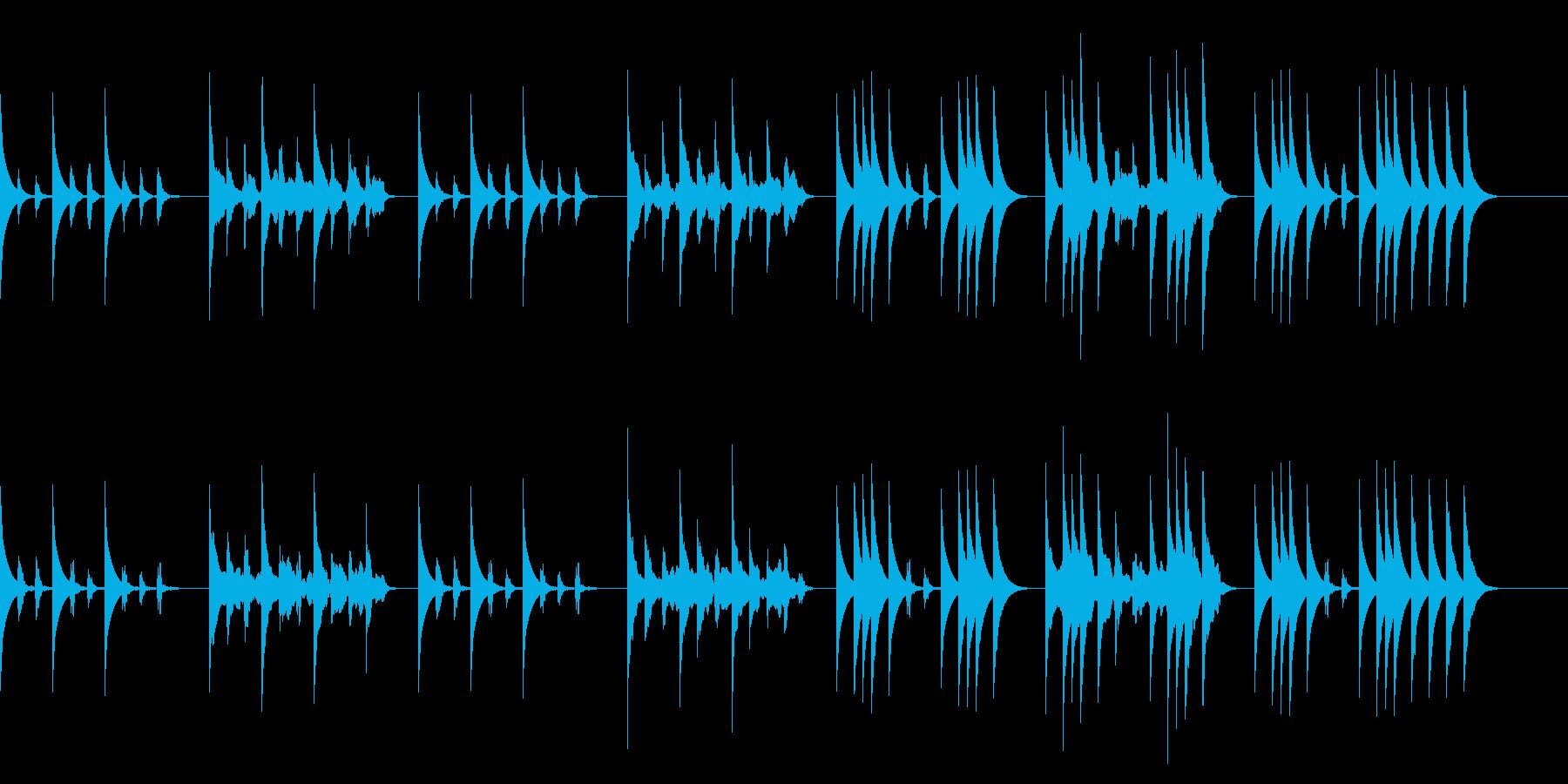 たどたどしいメロディー2/かわいい動物の再生済みの波形