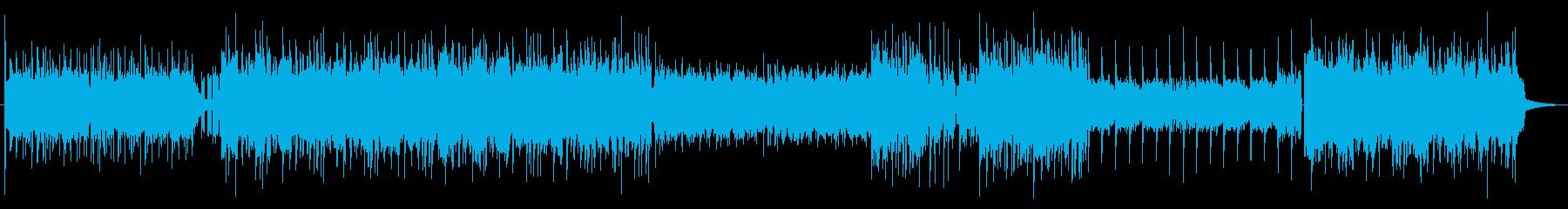 エンディング曲っぽいジャズ風ピアノEDMの再生済みの波形