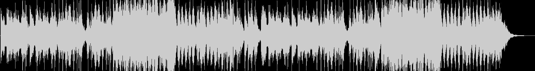星空を眺めるピアノのヒーリングBGMの未再生の波形