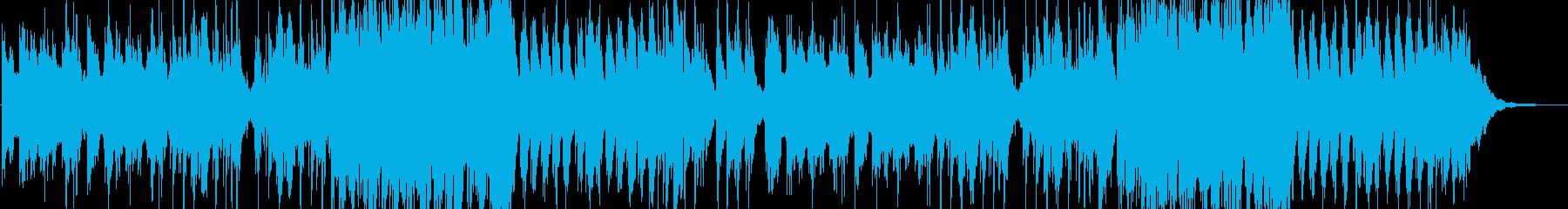 星空を眺めるピアノのヒーリングBGMの再生済みの波形