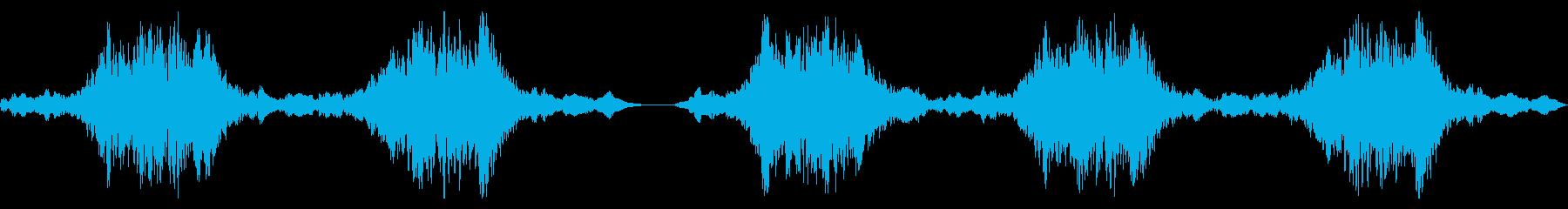 ホラーバーキングゴーストスウェルズの再生済みの波形