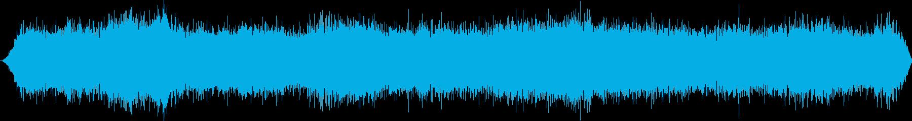 深い山または洞窟:ハウリング風、風の再生済みの波形