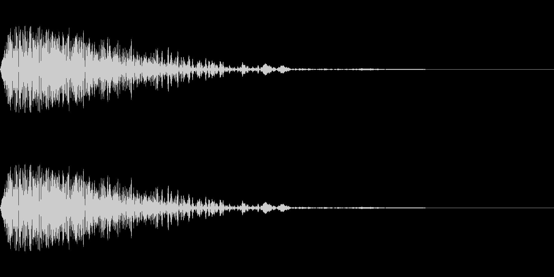 ゴーン(打撃/衝撃/ぶつかる音/ノイズの未再生の波形