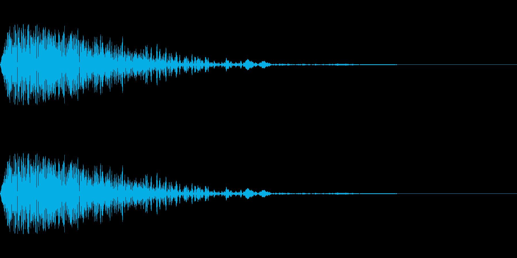 ゴーン(打撃/衝撃/ぶつかる音/ノイズの再生済みの波形