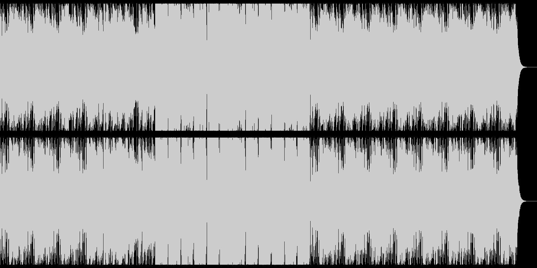 アメージンググレイス+HIPHOPの未再生の波形
