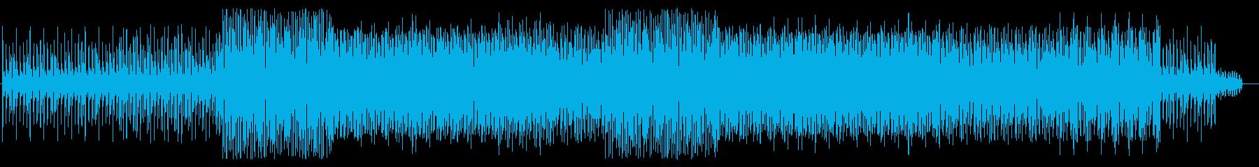 シリアス感のシンセサイザーテクノ系の再生済みの波形