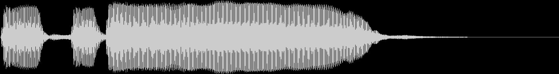 トランペット/2重奏のテッテレーの未再生の波形
