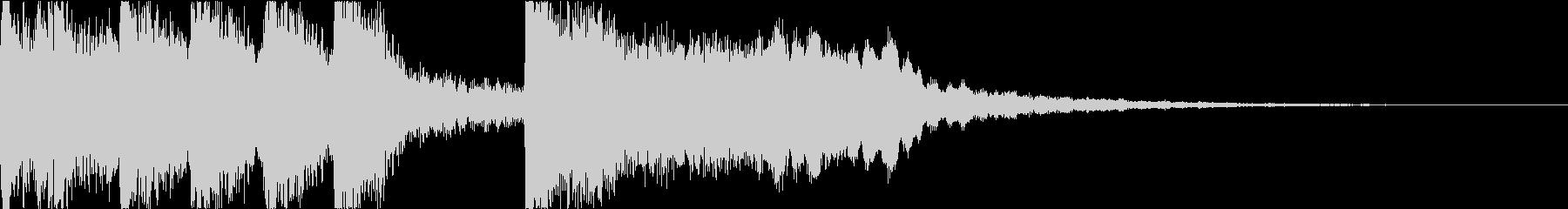 ゲームで使える和楽器の勝利ファンファーレの未再生の波形