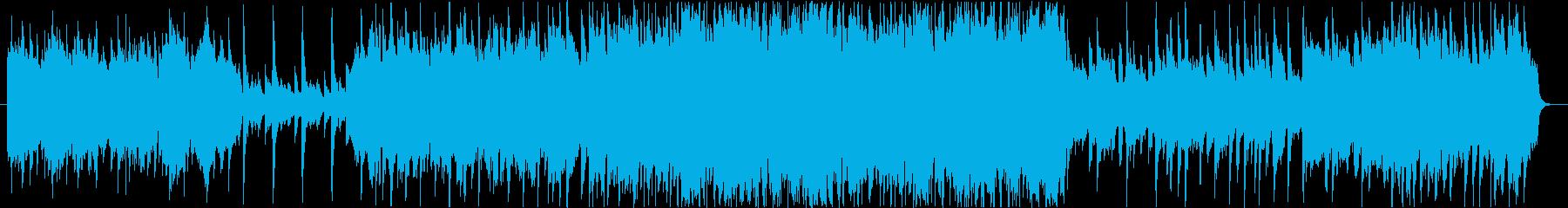 やさしげであたたかい雰囲気のBGMの再生済みの波形