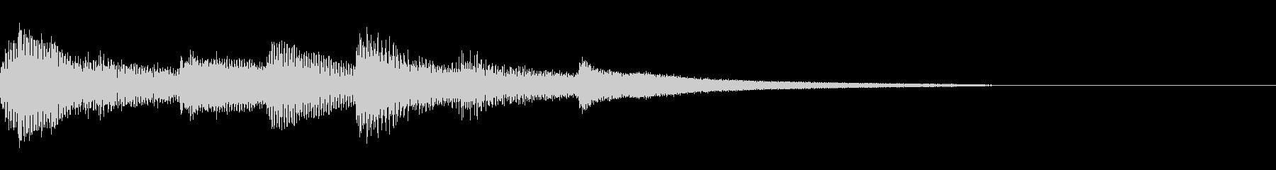 おしゃれなピアノのジングル23の未再生の波形