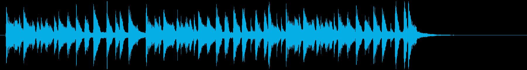 コミカルで元気が出るメロディーの再生済みの波形