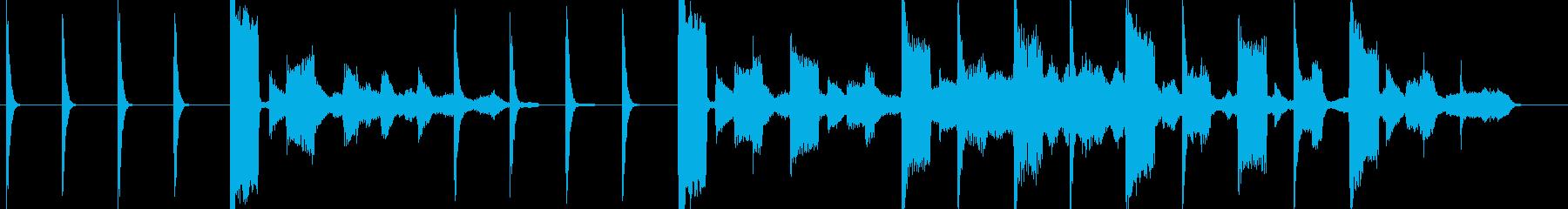 着信コールサイン電話ループ設定ジングルの再生済みの波形