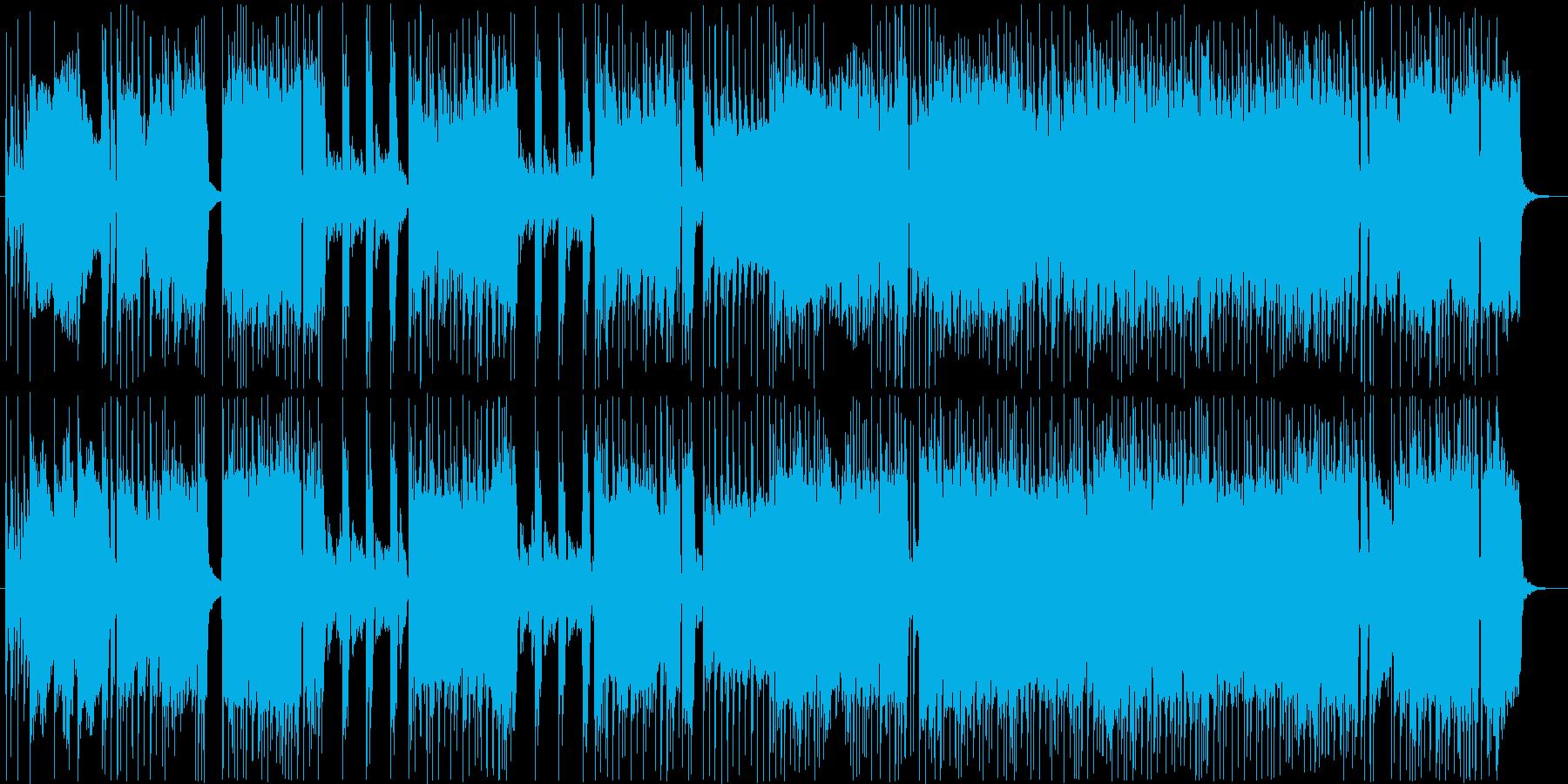 アニメのテーマ風わくわくアニソンBGMの再生済みの波形