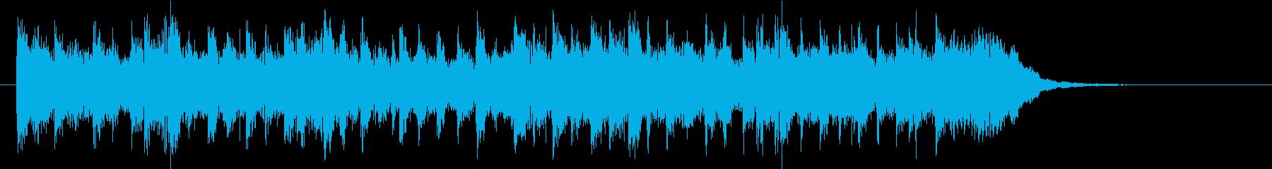 軽快なピアノのポップスのジングルの再生済みの波形