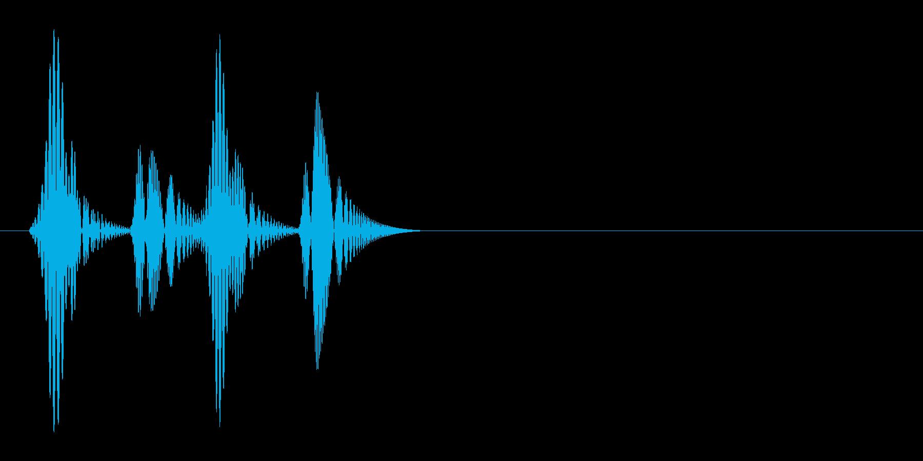 ゴクゴクッ(吸血、ポップ、吸い取る)の再生済みの波形