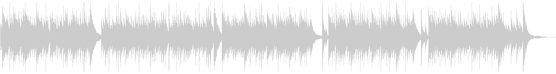 穏やかな午後のイメージのピアノソロの未再生の波形