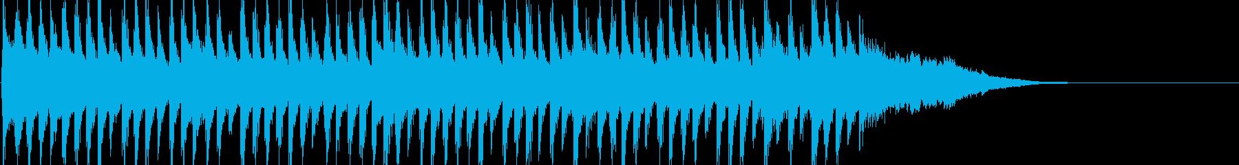 ベルとアコギのクリスマス用ジングルの再生済みの波形