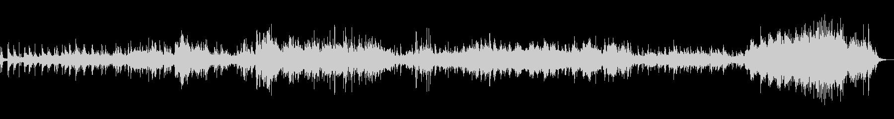 静かなギターとピアノのアンビエントの未再生の波形