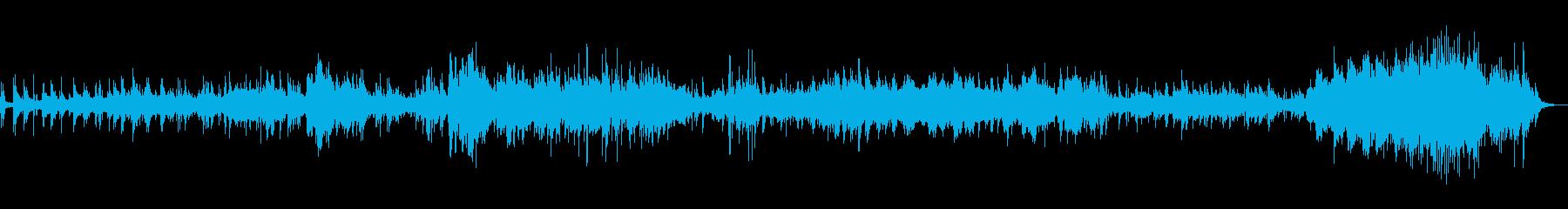 静かなギターとピアノのアンビエントの再生済みの波形
