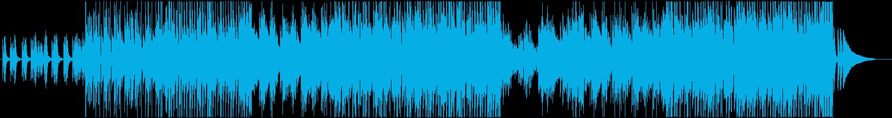 穏やかで癒されるバラードの再生済みの波形
