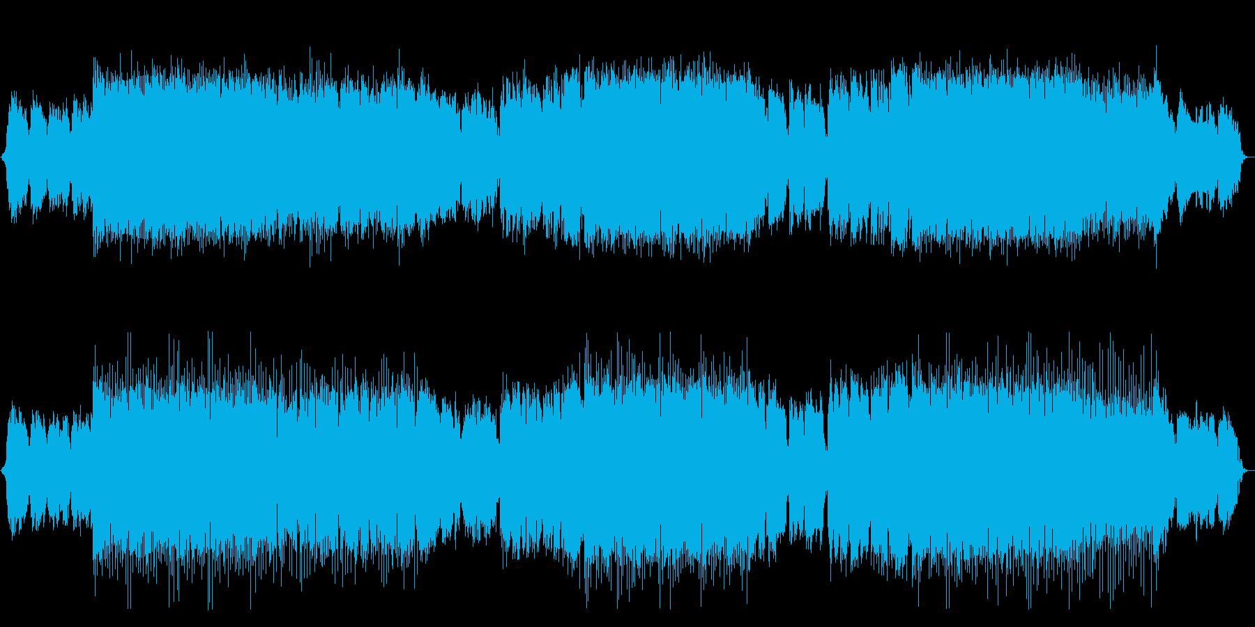 Japanese style house EDM Japanese shakuhachi performance's reproduced waveform