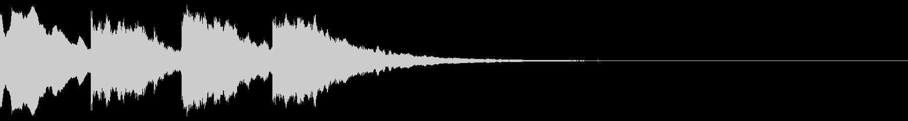 チャイム音(ハイテンション)の未再生の波形