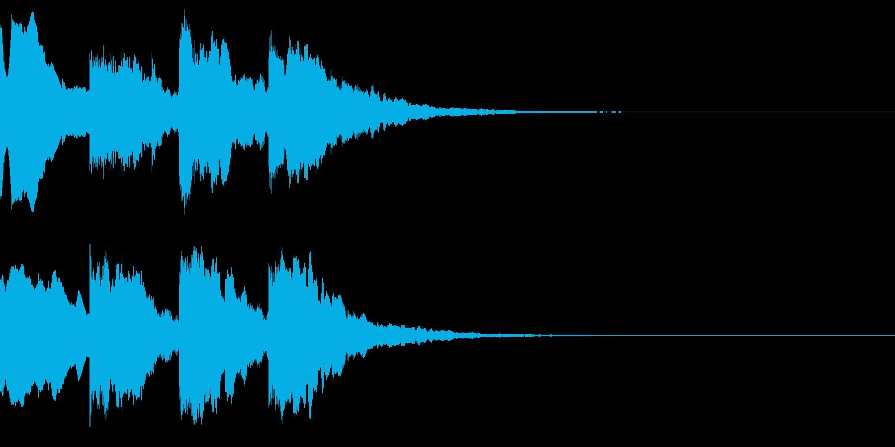 チャイム音(ハイテンション)の再生済みの波形