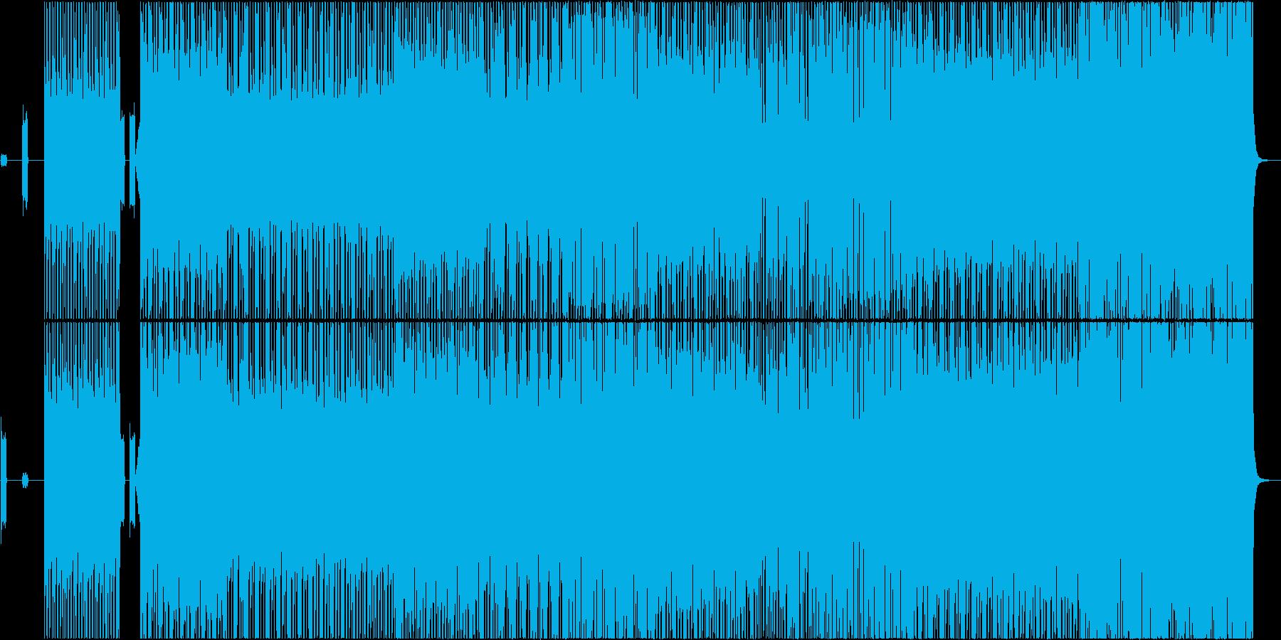 サイバーなハウスミュージック♪の再生済みの波形