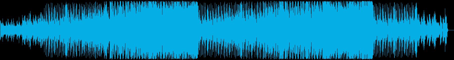 未来を感じる電子音の音楽の再生済みの波形