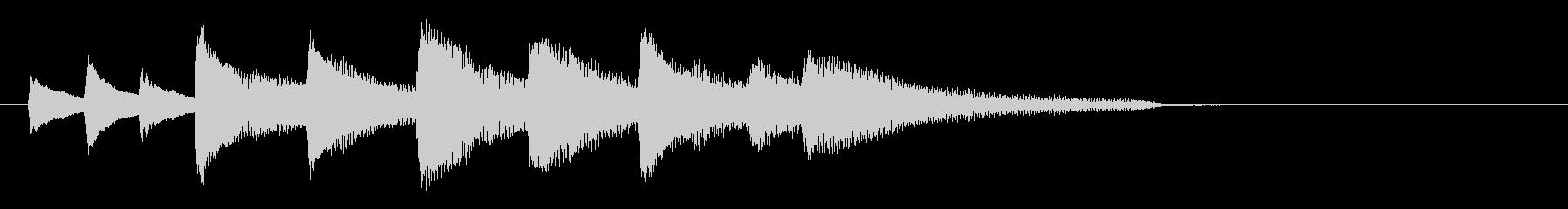 悲しく切ないピアノジングルの未再生の波形