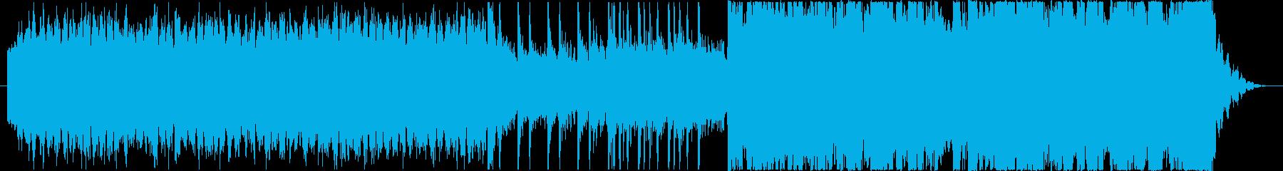 シンセとギターのスケールの大きい楽曲の再生済みの波形