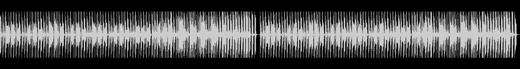 ペット動画に、コミカルな行進曲の未再生の波形