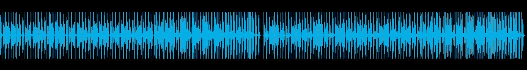 ペット動画に、コミカルな行進曲の再生済みの波形