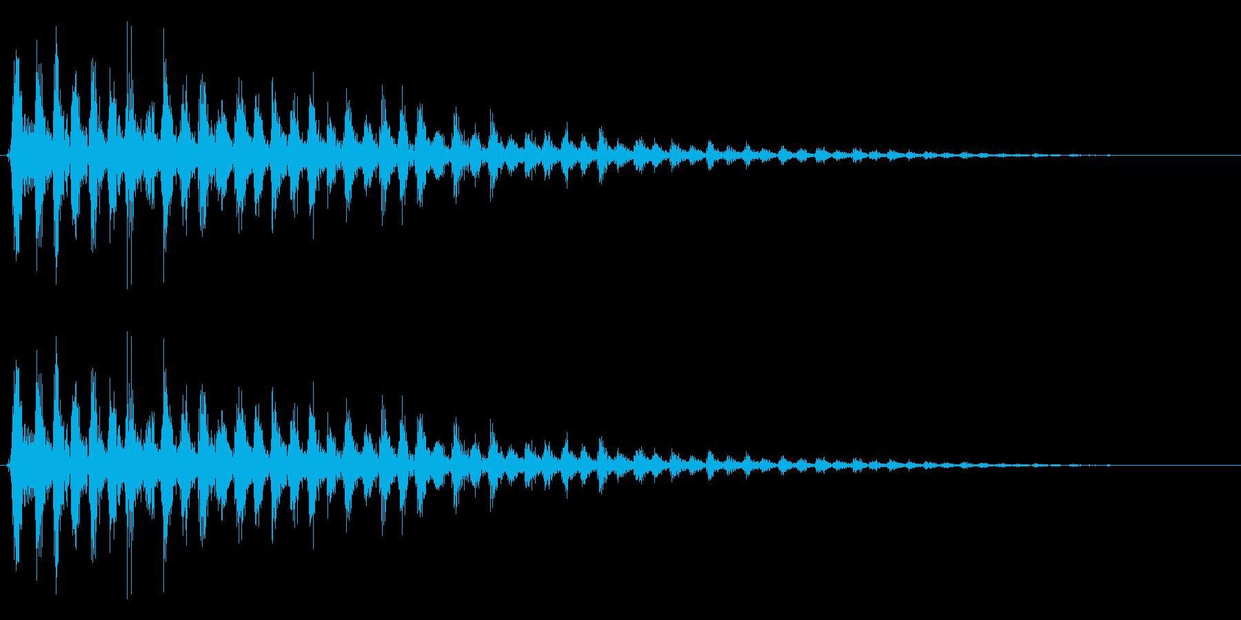 カァァーッ! ビブラスラップの再生済みの波形