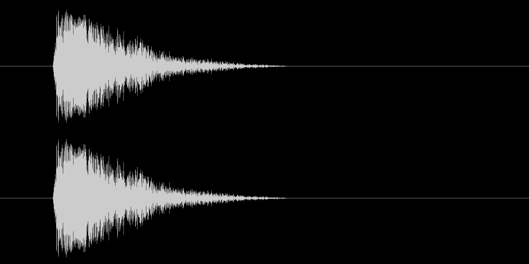 ジャン!懐かしのオケヒその2_音程低めの未再生の波形