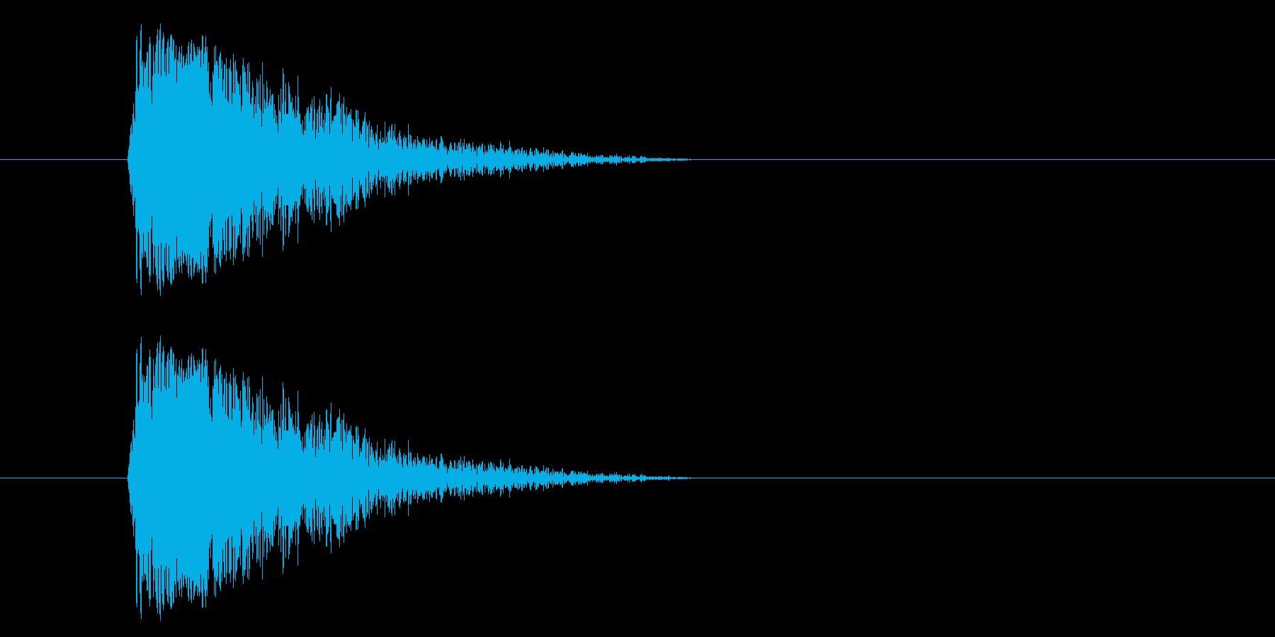 ジャン!懐かしのオケヒその2_音程低めの再生済みの波形