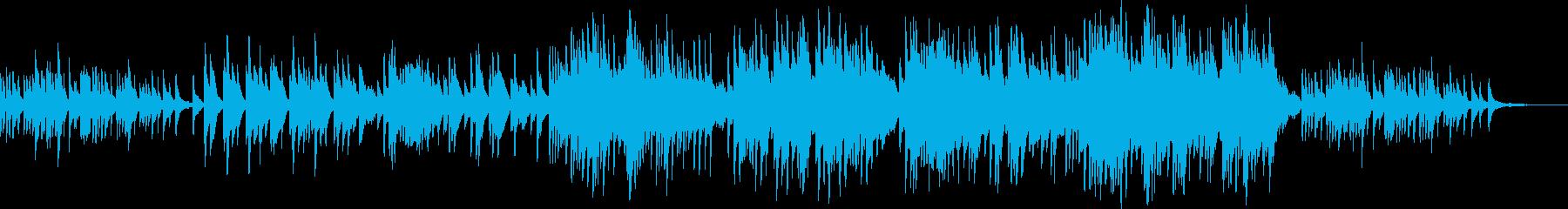 ゆったりとしたピアノバラード曲の再生済みの波形