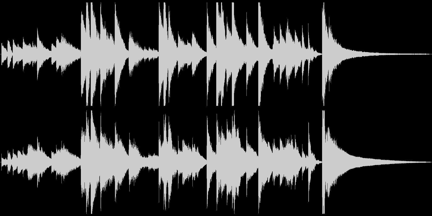 悲しいピアノソロのショートBGMの未再生の波形
