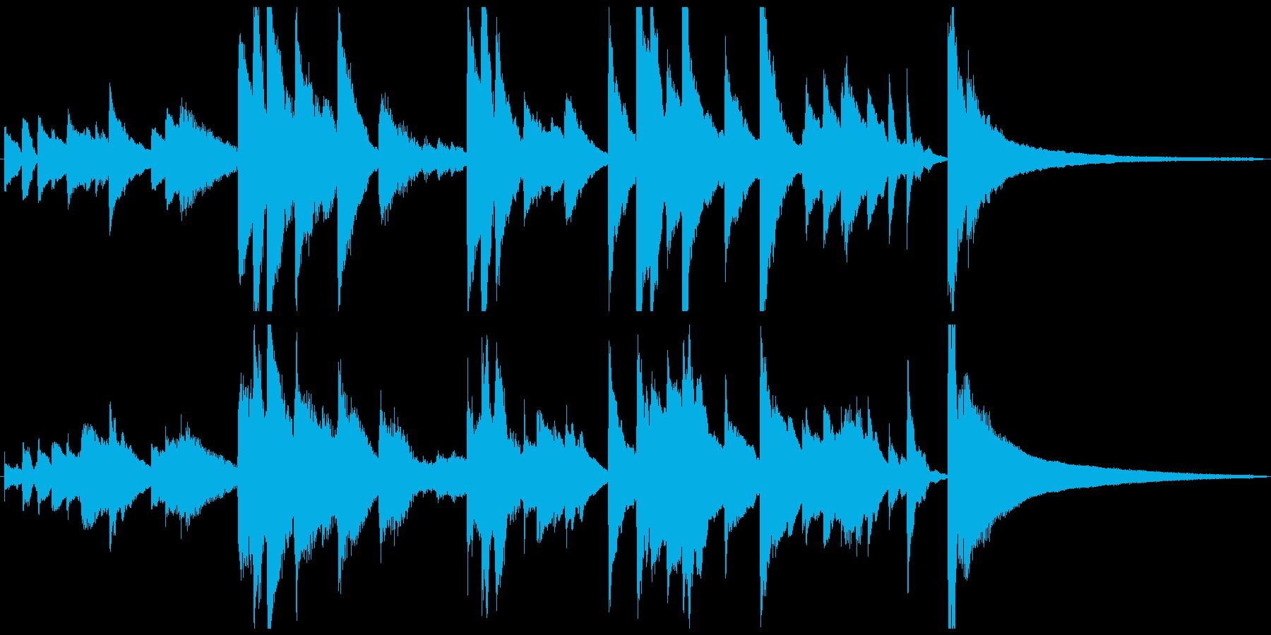 悲しいピアノソロのショートBGMの再生済みの波形