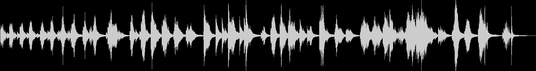 悲劇的な悲しいピアノ曲(切ない・後悔)の未再生の波形