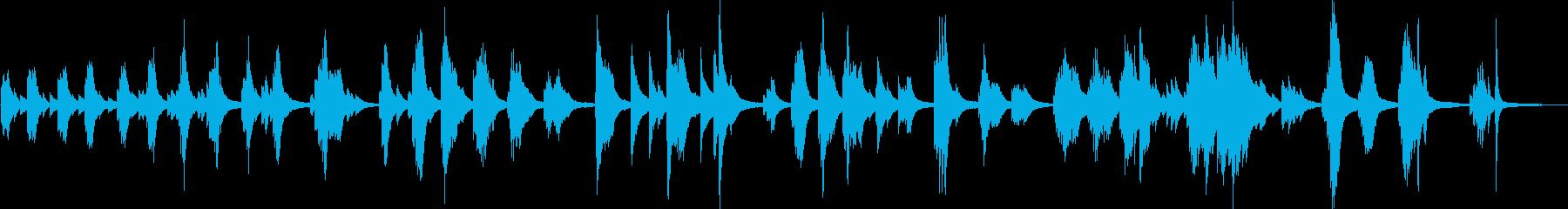 悲劇的な悲しいピアノ曲(切ない・後悔)の再生済みの波形