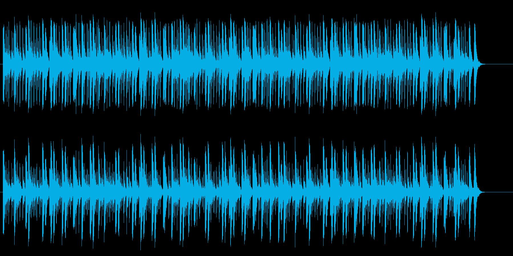 三味線のリズムのゆったりとした和風の再生済みの波形