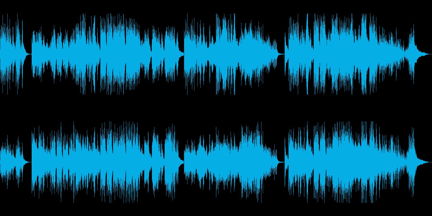 ピアノとギターによるクラシカルなワルツの再生済みの波形