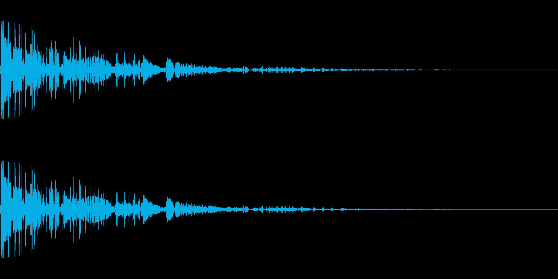 ドサッ(落下や倒れる衝撃音)01の再生済みの波形